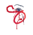 Eye with Blood2 vector image vector image