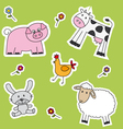 Farm animals background vector image
