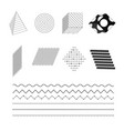 fashionable black and white simple geometric vector image