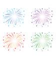 fireworks colour set vector image vector image