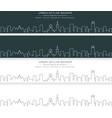 ghent single line skyline banner vector image vector image