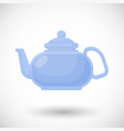 glass teapot flat icon vector image