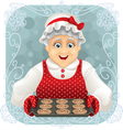 Granny Baked Some Cookies vector image vector image