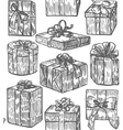 hand drawn gift background vector image
