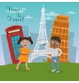 Happy Children on Travel Vacations vector image vector image