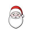 head santa claus spirit christmas vector image