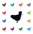 isolated chicken icon bantam element can vector image vector image
