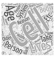 Middle Aging in Healthy Living Word Cloud Concept vector image vector image