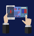 mobile app for on line trading and market analysis vector image vector image