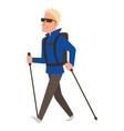 Nordic walking sport character vector image vector image
