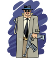 one armed bandit cartoon vector image vector image
