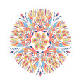 Ornament in the shape of a flower from colorful vector image