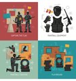 Paintball 2x2 Design Concept vector image vector image
