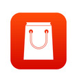 paper bag icon digital red vector image vector image