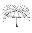 rain and umbrella sketch vector image