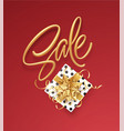 realistic metallic gold inscription sale on the vector image vector image