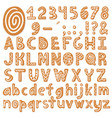 set alphabet holidays gingerbread cookies vector image