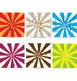 Set of lined grunge backgrounds vector image