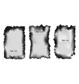 set of scorched papers on a transparent background vector image vector image
