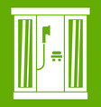 shower cabin icon green vector image vector image