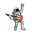 spaceman rock star play on guitar vector image