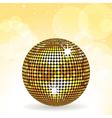 sparkling gold disco ball vector image vector image