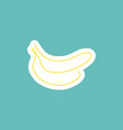 sticker one line art style banana abstract food vector image vector image
