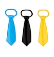 Three ties on white vector image