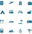 Travel leisure and tourism icon set vector image vector image