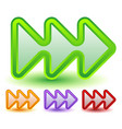 triple 3 arrows in more colors locate fast vector image vector image