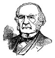 william e gladstone vintage vector image vector image