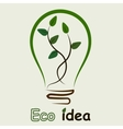 plant inside the light bulb vector image
