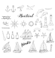 Nautical background with ships vector image