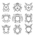 template of heraldic emblems for different design vector image