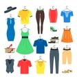 Woman and Man Clothe Set vector image