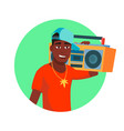 african rapper male fashionable hip hop vector image