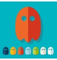 Flat design ghost vector image