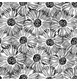 abstract floral seamless pattern hand drawn black vector image