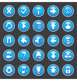aqua game buttons vector image vector image