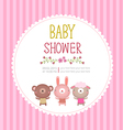 bashower invitation card template on pink vector image