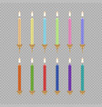 birthday cake candle icon set vector image