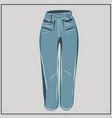 blue jeans classic denim oversize fashion vector image vector image