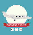 Business Flight Poster vector image vector image