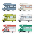 Camping Caravan Traveler Truck Collection vector image vector image