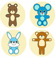 cartoon animal collection vector image vector image