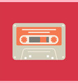 cassette icon tape symbol flat vector image vector image