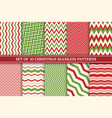christmas seamless colorful zigzag patterns vector image vector image