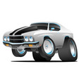 classic seventies american muscle car cartoon vector image vector image
