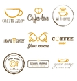 Collection of vintage logo and logotype elements vector image vector image