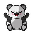 cute bear kawaii cartoon vector image